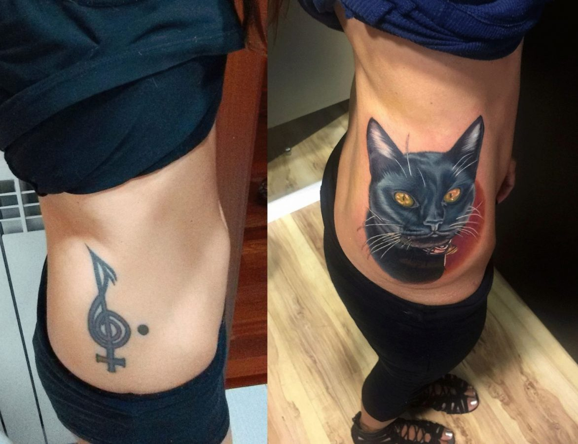 Tattoo de cubrimiento by Gustavo Lesmes